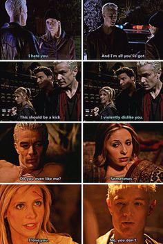Buffy's evolution of feelings for Spike