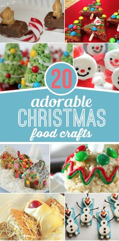 Make memories this Christmas with these 20 Adorable Christmas food crafts. They are perfect for classroom Christmas parties or just an afternoon of fun!