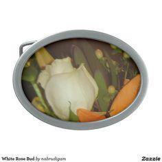 White Rose Bud Belt Buckles