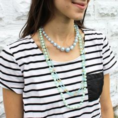Serenity and stripes. This is a surprisingly fun combination!