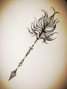 Arrow tattoo My inspiration tonight   My own design!