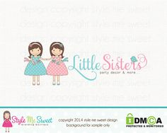 Party Logo Design Childrens Boutique Logo by stylemesweetdesign