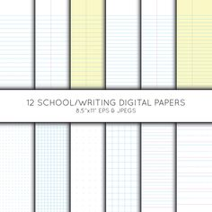 School digital paper, Pre School Paper, Writing paper, grid paper, Printable, background, Vector Graphics, digital download, commercial use Image Paper, Big Group, Frame Clipart, Writing Paper, Art Crafts, Pre School, Vector Graphics, Scrapbook Paper, Digital Scrapbooking