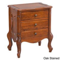 International Caravan Windsor Hardwood Three-drawer Nightstand