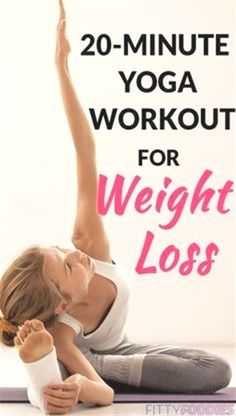 Yoga is the perfect low-intensity workout for burning fat. Try this yoga workout for weight loss and see for yourself! Quick Weight Loss Tips, Weight Loss Help, Yoga For Weight Loss, Losing Weight Tips, Lose Weight In A Week, How To Lose Weight Fast, Reduce Weight, Yoga Inspiration, Yoga Fitness