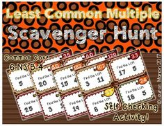This product meets Common Core Standard 6.NS.B.4Use these fall themed task cards as a fun independent practice activity for finding the least common multiple of two numbers. This activity is self-checking; as students find the LCM, they move to the task card that has the matching answer in the upper right hand corner of the card.