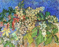 Vincent Van Gogh. Blossoming Chestnut Branches.  May, 1890) ~   Foundation E.G. Bührle ~ Zürich, Switzerland