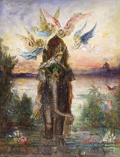 The Sacred Elephant (Peri) - Gustave Moreau  1882