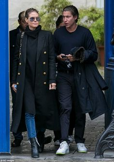 Ou la la: Heidi Klum, 43, looked incredibly stylish as she headed out in Paris with her handsome boyfriend Vito Schnabel, 30, on Thursday
