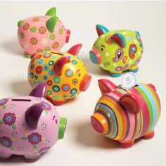 Sweet Savings Piggy Bank by Two's Company Sweet Savings Piggy Bank by Two's Company The post Sweet Savings Piggy Bank by Two's Company appeared first on Spardose ideen. Pottery Painting, Ceramic Painting, Pig Bank, Personalized Piggy Bank, Color Me Mine, Paint Your Own Pottery, Money Bank, Art Diy, Cute Piggies