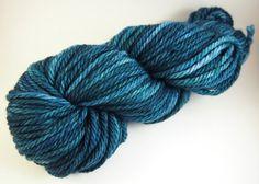 Hand Dyed Yarn  Oceanography  Superwash Merino by JanuaryYarns
