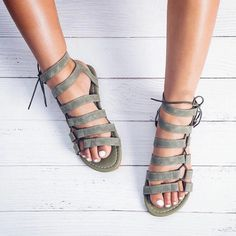 d7204934f877 Women s Summer Lace-Up Ankle Strap Flat Gladiator Sandals