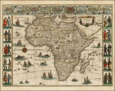 Africa c. 1640   Barry Lawrence Ruderman Antique Maps Inc.