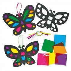 """Deko-Anhänger """"Schmetterlinge"""" mit Transparentpapier"""