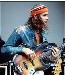Jaco Pastorius and I hung out together fierce in Manhattan, during a period of time, just after my own stint with WR.  The only formal show we ever did was in NYC, at the Beacon Theater, with a group called the Samba Salsa Swing All-Stars.  Jaco performed the concert (and is pictured here) playing my Fender Jazz bass, a gift to me from Jon Lucien!