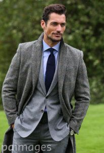 Model David Gandy at Dumfries House in Ayrshire, where the Prince of Wales will address a wool conference.