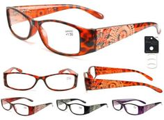 Plastic-Color-Reading-Glasses-with-Etched-Flower-Design