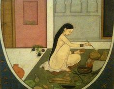 Indian Miniature fom Metropolitan Museum, Radha