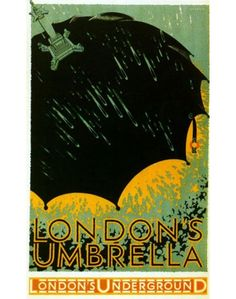 London's Umbrella ~ Frederick Charles Herrick (London Transport poster) - lithograph in colours, printed by The Baynard Press Posters Uk, Railway Posters, Poster Ads, Illustrations And Posters, Poster Prints, Modern Posters, Art Print, Vintage Advertising Posters, Vintage Travel Posters