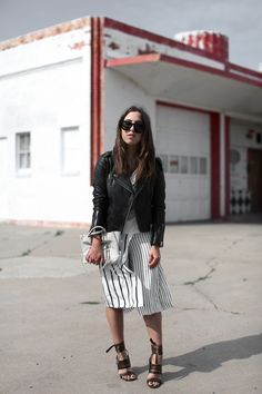 Iris and Ink Striped Culotte Outfit