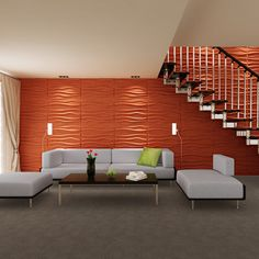 Paintable Waves 3D Wall Panels - Free Shipping Today - Overstock.com - 15854506 - Mobile