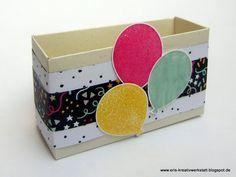 """#Geschenkedisplay mit #Minikärtchen mit """"Meine Party""""  Weitere Bilder und #Anleitung gibt's auf meinem Blog: http://eris-kreativwerkstatt.blogspot.co.at/2016/04/geschenkedisplay-mit-minikartchen-mit.html  #stampinup #teamstampingart #geschenk #karte #verpackung"""