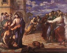 El Greco Christ Healing the Blind , Gemaldegalerie, Dresden. Read more about the symbolism and interpretation of Christ Healing the Blind 1 by El Greco. Lutheran Humor, Renaissance Kunst, Renaissance Paintings, Greece Painting, Ages Of Man, Jesus Heals, Painting Prints, Art Prints, Peter Paul Rubens