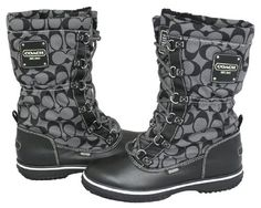 My NEW Coach Shaine Signature Snow Rain Boots!!! SO EXCITED!