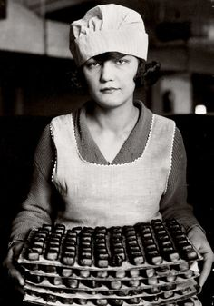 lewis hine: worker at a chocolate factory, new york, ca. 1925