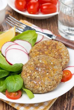 lentil and buckwheat burger