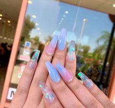 acrylic nail designs of glamorous ladies of the summer season 2 ~ telorecip. # quinceanera makeup blue acrylic nail designs of glamorous ladies of the summer season 2 ~ telorecip. Summer Acrylic Nails, Best Acrylic Nails, Summer Nails, Colourful Acrylic Nails, Acrylic Art, Nail Swag, Gel Nagel Design, Cute Acrylic Nail Designs, Aycrlic Nails