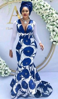 Best 12 African women clothing/African print fit and flare plus size/Ankara fashion dress plus size/ African – SkillOfKing. Ankara Dress Styles, African Fashion Ankara, Latest African Fashion Dresses, African Dresses For Women, African Print Fashion, Africa Fashion, African Women, Nigerian Fashion, African Prints