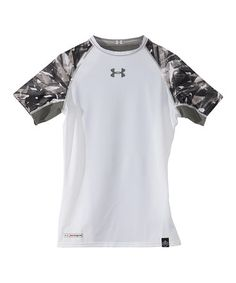 White NFL Combine Authentic Shatter Short Sleeve Top - Boys by Under Armour® on #zulily