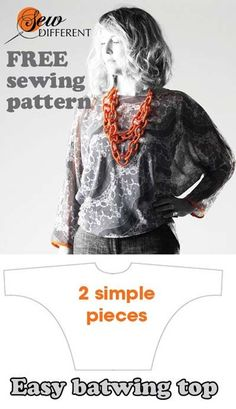 tutorial for 2 hour top sewing pattern ~ Sew Different- would love to make this in Jersey