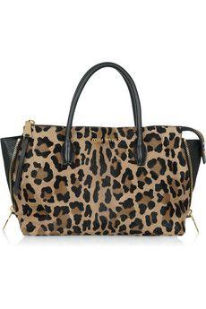 Miu Miu Leopard-print calf hair tote   NET-A-PORTER - this is gorgeous i love!