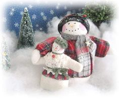 SNOWMAN Doll Soft Sculpture 5 inch Snowman with by CharlotteStyle, $38.00