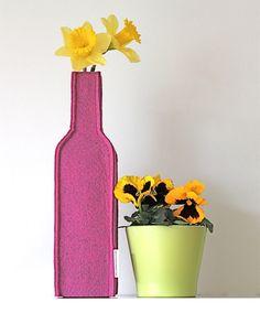 Decoratie - Blomvaassie: Fuchsia Roze - Een uniek product van ColorfulLiving op DaWanda