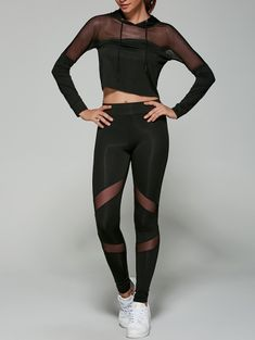 SHARE & Get it FREE   Cropped Hoodie with Mesh LeggingsFor Fashion Lovers only:80,000+ Items • New Arrivals Daily Join Zaful: Get YOUR $50 NOW!