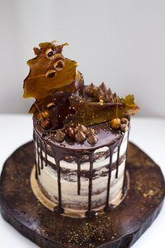 Irish Cream and Hazelnut Naked Cake