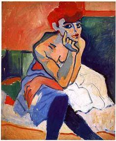 'der tänzer', öl auf leinwand von André Derain (1880-1954, France)