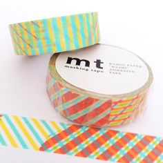New to Hobbyhoppers on Etsy: MT Tape Striped Checked Red & Yellow Washi Tape (4.95 AUD)