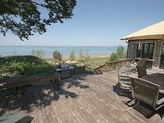 SUMMaR TIME!  Lake Michigan Home with Private Sandy Beach