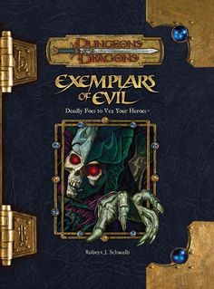 Exemplars of Evil (3.5) | Book cover and interior art for Dungeons and Dragons 3.0 and 3.5 - Dungeons & Dragons, D&D, DND, 3rd Edition, 3rd Ed., 3.0, 3.5, 3.x, 3E, d20, fantasy, Roleplaying Game, Role Playing Game, RPG, Open Game License, OGL, Wizards of the Coast, WotC, TSR Inc. | Create your own roleplaying game books w/ RPG Bard: www.rpgbard.com | Not Trusty Sword art: click artwork for source