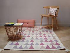 Für Kinder, 140 x 200 cm - 100 Prozent handgeknüpft hochwertige, robuste und schöne Virgin Wool Kilim-Teppich, Rosa: Amazon.de: Küche & Haushalt