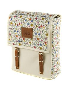floral retro style backpack. so cute
