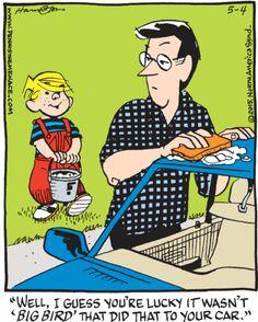 Hank the bird comic strip character