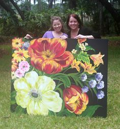 Donna Dewberry Free Patterns   the canvas below that i painted when marzia was here in may to find ...