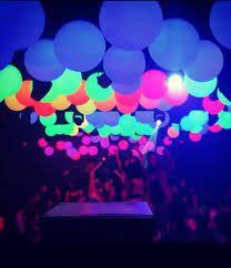 Resultado de imagem para decoraçao festa neon