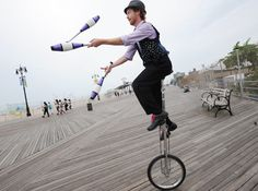 """""""...I was detained by two NYPD officers while riding my unicycle on the sidewalk near my home in Brooklyn.""""  Best part of the story?  This quote: """"I told the officers that I had been through this once before."""""""