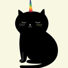 Caticorn: Always be yourself unless you can be a caticorn. Then, be a caticorn!
